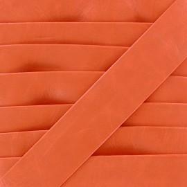Biais simili Cuero orange 20 mm