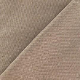 Tissu toile de coton uni Taupe x 10cm
