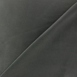 Tissu satin touché soie acier x 50cm