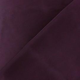 Tissu satin touché soie prune x 50cm