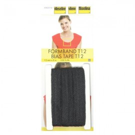 Stabilmanche - bande en biais thermocollante Vlieseline anthracite x 5 m