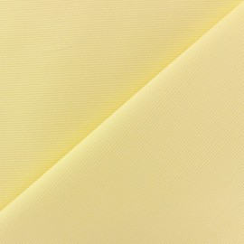 Tissu piqué de coton baby jaune x 10cm