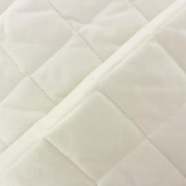 Tissu piqué de coton baby matelassé crème x 10cm