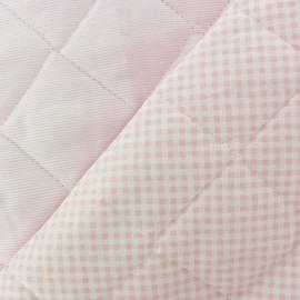 Tissu piqué de coton baby matelassé rose x 10cm
