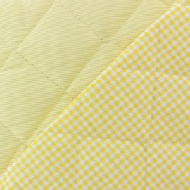 Tissu piqué de coton baby matelassé jaune x 10cm