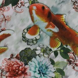 Tissu Popeline impression digitale Fish x 10cm