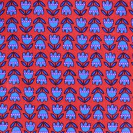 Tissu popeline Azul&Rojo Tulipe x 10cm