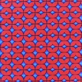 Tissu popeline Azul&Rojo Graphic x 10cm