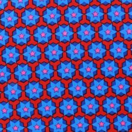 Tissu popeline Azul&Rojo Stars x 10cm