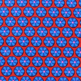 Tissu popeline Azul&Rojo Marguerite x 10cm