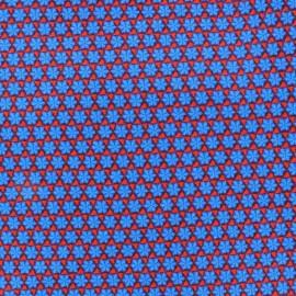 Tissu popeline Azul&Rojo Paquerette x 10cm