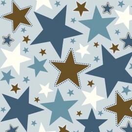 Tissu Toile de coton All Star Main Blue in Home x 30cm