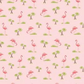 Tissu Flamingos Pink x 10cm