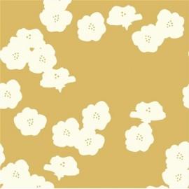 Tissu Jersey Poppies Sun x 10 cm