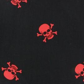 Tissu popeline Hamlet rouge sur fond noir x 10cm