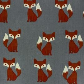 Tissu popeline Sweet Fox x 10cm