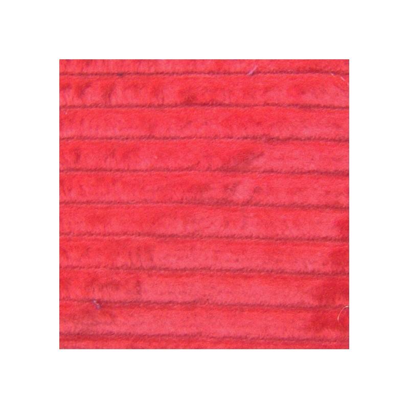 Tissus velours d 39 ameublement tissu velours grosses c tes rouge ma pet - Velours grosses cotes ...