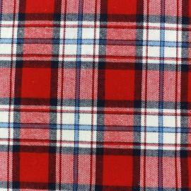 Tissu coton Scotland rouge  x 10cm