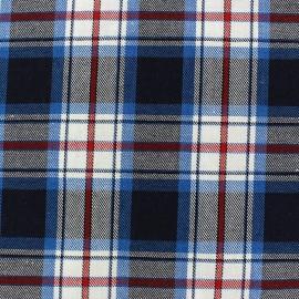 Tissu coton Scotland bleu  x 10cm