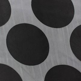 Tissu Mousseline viscose Moon noir x 50cm