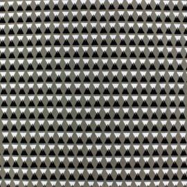 Tissu Microfibre Graphic Moutain Grège x 10cm