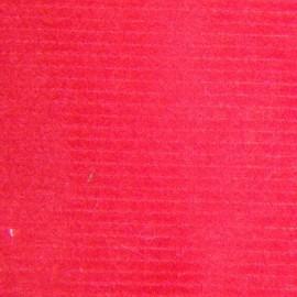 Velours milleraies rouge