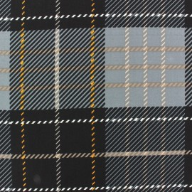 Tissu Mousseline Tartan gris x 50cm
