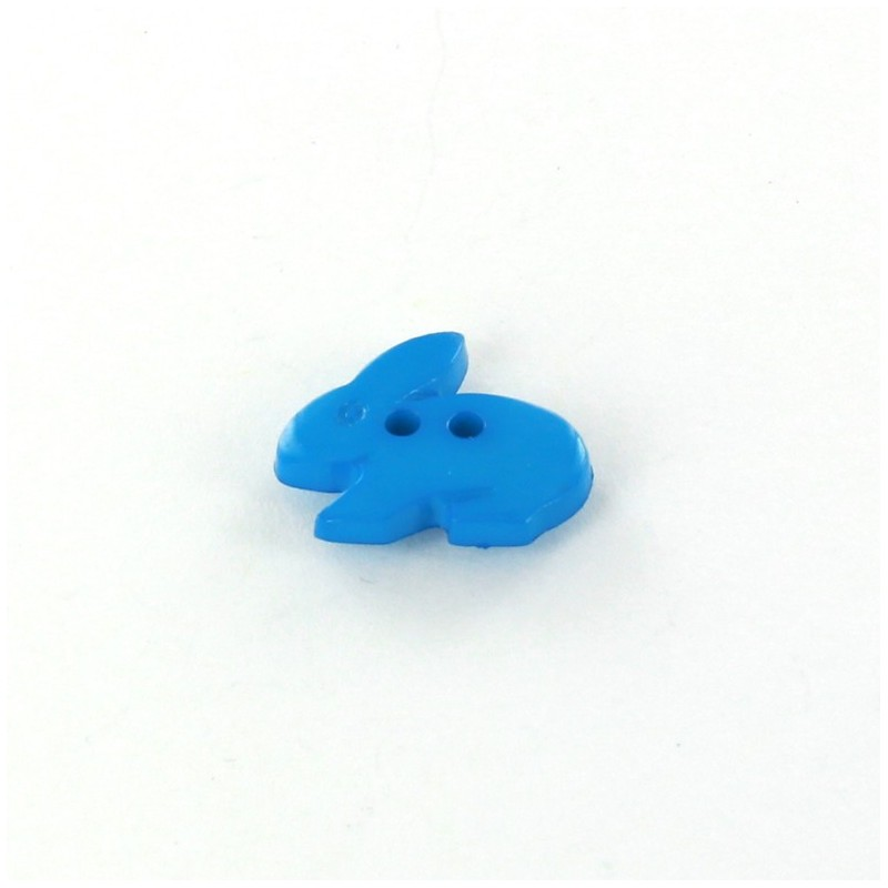 bouton polyester little rabbit bleu turquoise ma petite mercerie. Black Bedroom Furniture Sets. Home Design Ideas