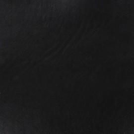 Simili cuir gutté moelleux noir x 10cm