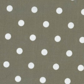 Big Dots Coated Cotton Fabric - clay x 10cm