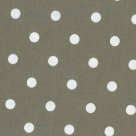 Tissu enduit coton Big Dots argile x 10cm