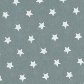 Tissu enduit coton Etoiles dusty Blue x 10cm