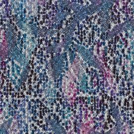 Tissu Paillettes sur tulle Ariel bleu x 10cm