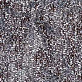 Tissu Paillettes sur tulle Ariel gris x 10cm