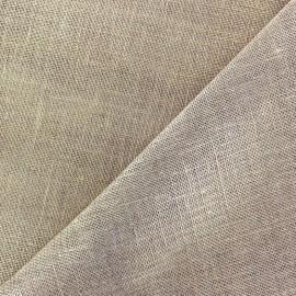 Tissu étamine Wilmo grège métal or x 10cm
