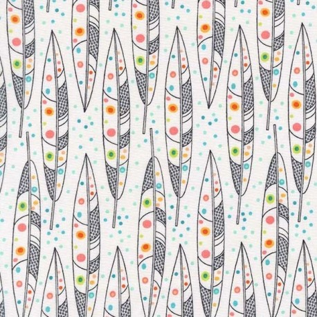 Tissu Swans a swimming - midnite x 10cm