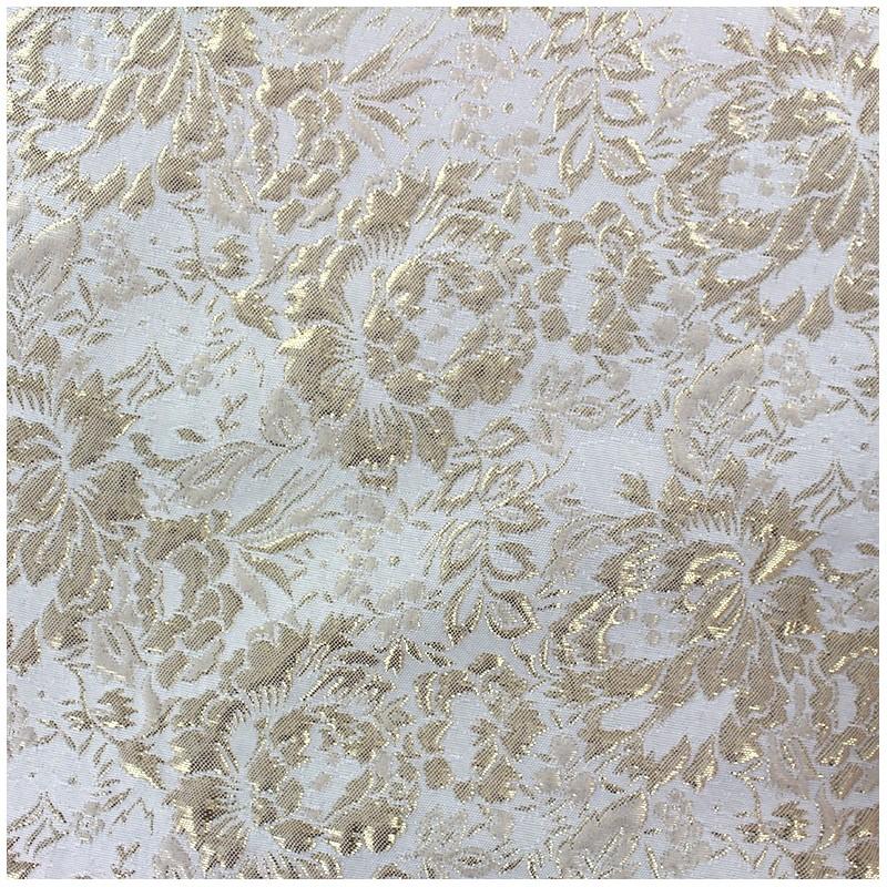 tissu damass fleurs sauvages dor x 10cm ma petite mercerie. Black Bedroom Furniture Sets. Home Design Ideas