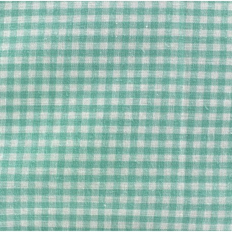 tissu vichy petits carreaux vert d 39 eau x 10cm ma petite. Black Bedroom Furniture Sets. Home Design Ideas