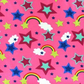Tissu Jersey Rainbow rose x 10cm