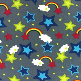 Tissu Jersey Rainbow gris x 10cm