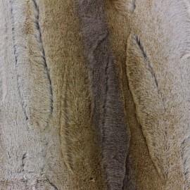 Fourrure Coyote brun x 10cm