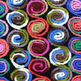 Tissu Lainage Spirales multi x 10cm