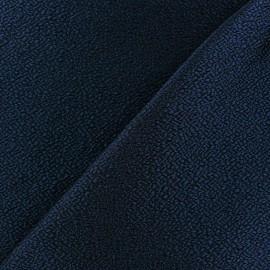 Tissu jacquard texturé bleu x 10cm