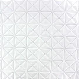 Simili cuir Pyramide blanc x 10cm