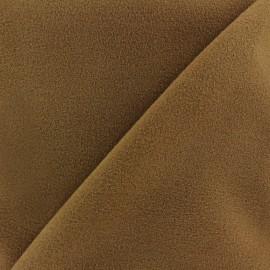 Tissu drap manteau brun x 10cm