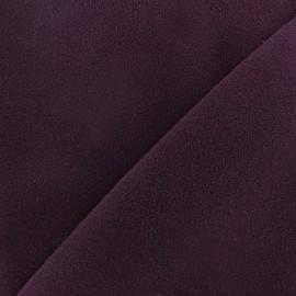 Tissu drap manteau aubergine x 10cm