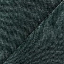 Tissu velours milleraies bicolore gris/noir 400gr/ml x10cm
