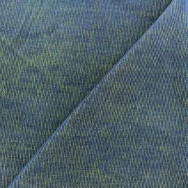 Tissu velours milleraies bicolore jaune/marine 400gr/ml x10cm