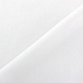 Sweat reverside Minkee velvet Fabric - white x 10cm