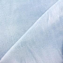Tissu sweat envers minkee ciel x 10cm